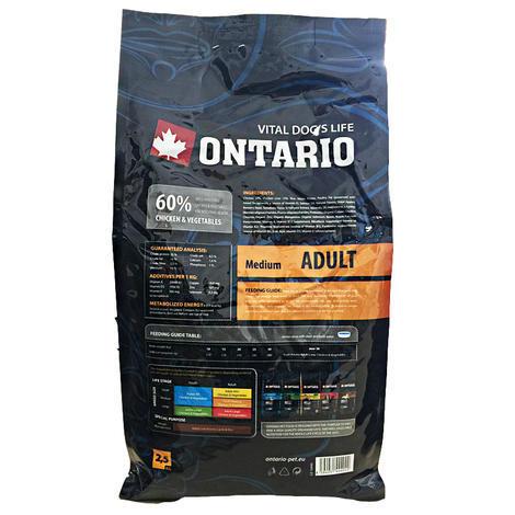 ONTARIO Adult Medium 13kg + 2,25kg ZDARMA + doprava ZDARMA  - 2