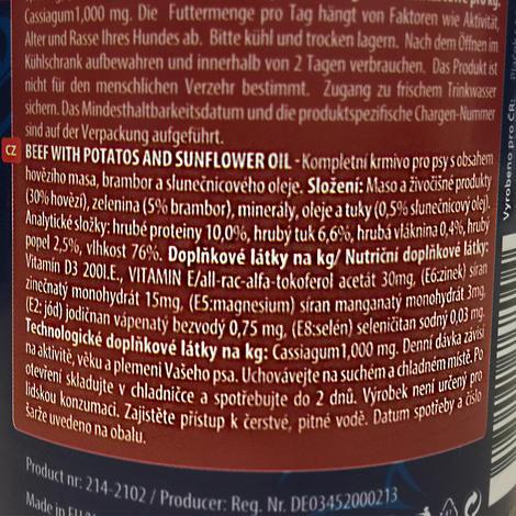6 x ONTARIO konzerva Beef 400g + univerzální víčko ZDARMA  - 2