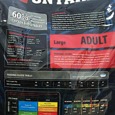 ONTARIO Adult Large Breed 13kg + 2,25kg ZDARMA + doprava ZDARMA  - 3