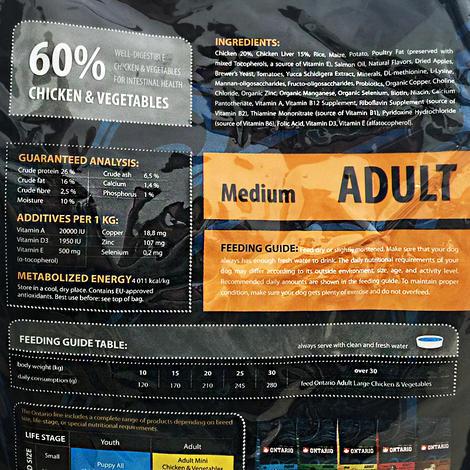 ONTARIO Adult Medium 13kg + 2,25kg ZDARMA + doprava ZDARMA  - 3