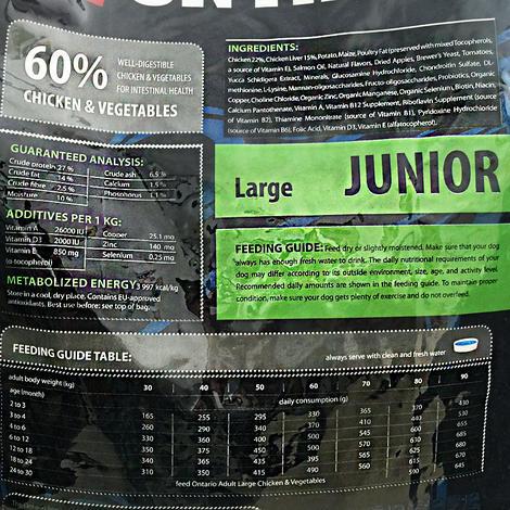 ONTARIO Junior Large Breed 13kg + 2,25kg ZDARMA + doprava ZDARMA  - 3
