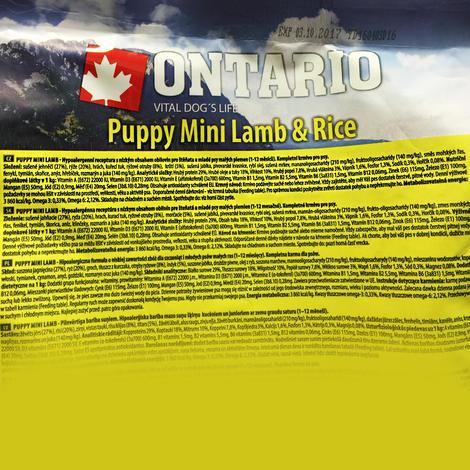 ONTARIO Puppy Mini Lamb & Rice - 3