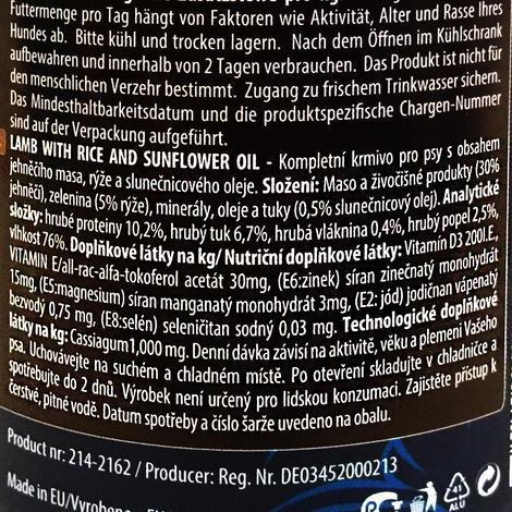 6 x ONTARIO konzerva Lamb, Rice, Sunflower Oil 400g + univerzální víčko zdarma  - 4