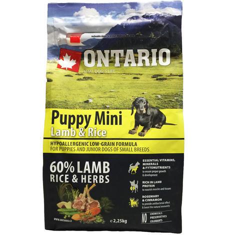 ONTARIO Puppy Mini Lamb & Rice - 4